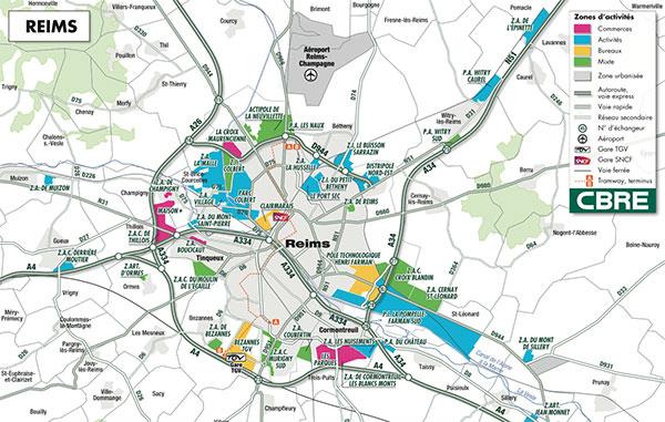 Les Zones De L'agglomération Rémoise
